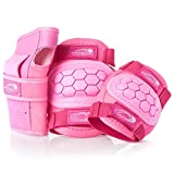 Osprey Kids\' Skate BMX 6pc Knee, Elbow & Wrist Protective Set, Pink, Medium