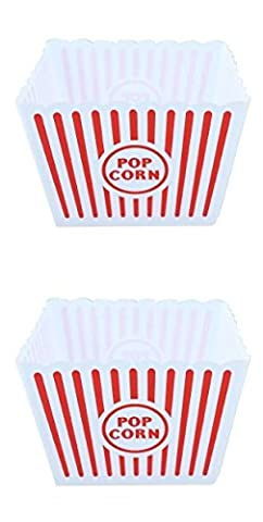 GoPopCorn 2 PCS Large Retro Striped Cinema Design Striped Plastic
