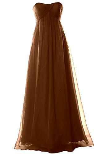 MACloth - Robe - Trapèze - Sans Manche - Femme Marron