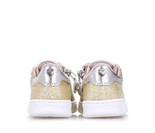 TWIN-SET – Goldener Schuh mit Schnürsenkeln aus Glitzern und Leder, phantasievoll und modisch, seitlich ein Reißverschluss, Mädchen - 6
