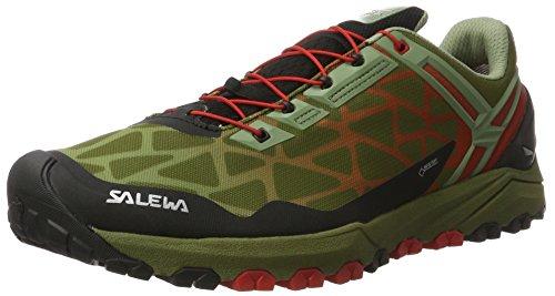 Salewa Multi-piste Gore-tex, Chaussures D'escalade Grimpant Pour Hommes Vert (huile Vert / Fluo Corail 5870)