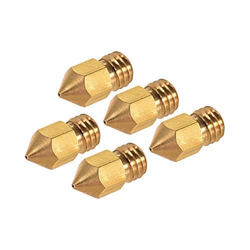 aibecy creality extrusora Latón Cabezal de impresión Salida 0.4mm para CR-10Serie ender-31.75mm PLA ABS Filamento, unidades Oro-5pcs