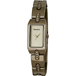 Henley Elegance Women's Fashion Quartz Watch with Mother of Pearl Dial Analogue Display and Silver Stainless Steel Plated Bracelet H4008.1