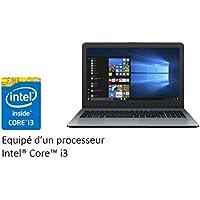 """Asus R540LA-XX1123T PC Portable 15"""" (Intel Core i3, Disque Dur 1 To + SSD 128 Go, 8 Go de RAM, Windows 10) Clavier AZERTY Français"""
