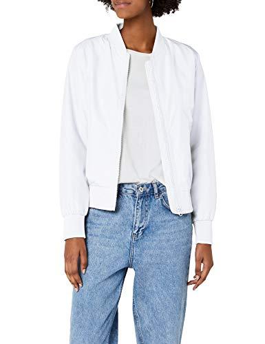 Urban Classics TB1217 Damen Jacke Ladies Light Bomber Jacket, Weiß (White 220), 38 (Herstellergröße: M) Jacke Aus 100% Polyester