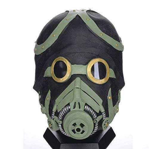 LLY Bio-chemische Waffengasmaske aus Naturlatex für - Waffen Tragen Kostüm