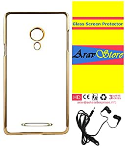 AravStore Meephone Soft Back Cover With Screen Protector and Hand Free For- YU Yunicorn -Gold