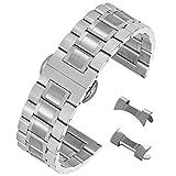 15 millimetri braccialetto 304 sostituzione in acciaio inossidabile solida per guardare lo sport della cinghia vigilanza di affari ss in argento