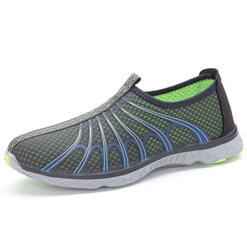 Men's Mesh Butterfly Slop On Super Light Athletic Running Shoes Dark Grey