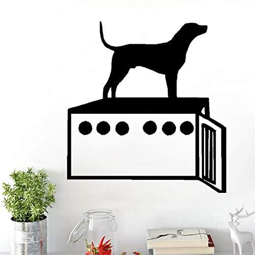 ljjljj Hund und Hundebox Persönlichkeit PVC Wandaufkleber Abziehbild Dekoration 50x55cm (Vinyl-hundebox)