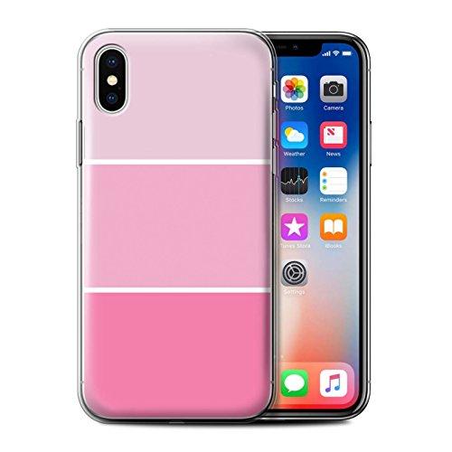 Stuff4 Gel TPU Hülle / Case für Apple iPhone X/10 / Lila Muster / Pastell Farbton Kollektion Rosa