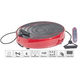 newgen medicals Vibrationplatten: Kompakte Vibrationsplatte, 300 W, 20 Frequenzen, Fernbedienung, Timer (Fitnessplatte)