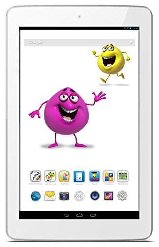 Odys Junior Tab 8 Pro 20,3cm (8 Zoll) Tablet-PC (MTK 8127 1,3 GHz Quad Core, 1 RAM, 8GB HDD, Android 4.4, BT 4.0 HD IPS Display (1280 x 800) inkl. Elternkontrolle, Kindersicherung, Content) weiß