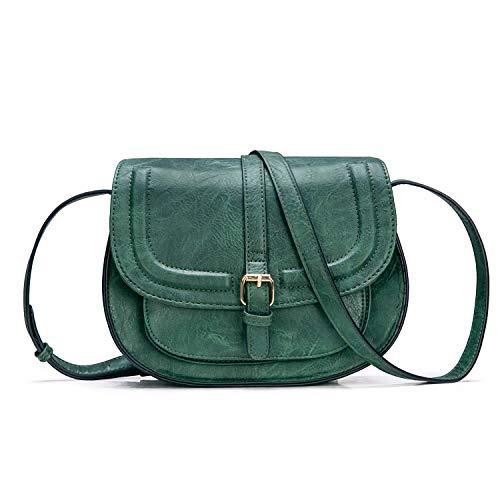 AFKOMST Umhängetasche Damen Klein PU leder Tasche Vintage Handtaschen Crossbody Grün