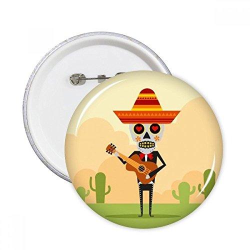 Cactus sombrero Calavera tocando la guitarra México Feliz el...