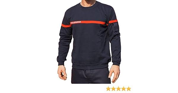 feuer1 Sweat-Shirt Pompiers avec Bande Rouge