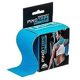 Pinotape Pro Therapy © - das Original - kinesiologisches Tape - Baumwolle - verschiedene Farben und Designs 5 cm x 5 m- besonders hautverträglich - Kinesiologie - Physio-Tape (Blau)