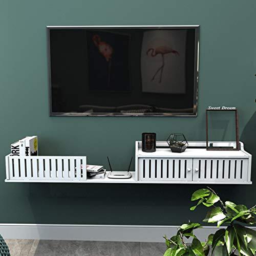 Étagère TV murale chambre à coucher salon cuisine Étagère murale Étagère flottante étagère à livres Étagère de stockage multimédia étagère d'affichage multifonctions (taille : 120cm)