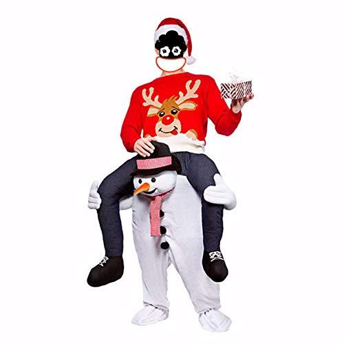 (Essort Unisex Schultertrage-Kostüm, Factory Direct Support, Kostüm Santa Cosplay Kostüm Hose, Erwachsene, Rentier Kostüm Spielzeug für Halloween, Weihnachten, lustiges Lauf-Outfit (Snowman))
