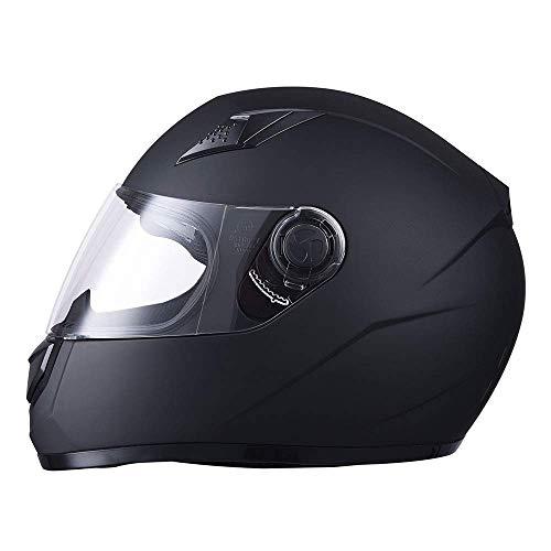 XIANGHUi motorradhelm,Motorrad-integralhelm,volles Gesicht Motorrad Helm für Erwachsene Jugend junior - schwarz