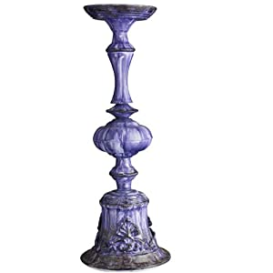 Kerzenständer, groß, lila-blau von Nordal