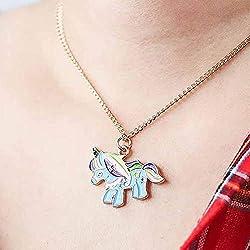 Collar con colgante de unicornio simple y simbólico, accesorio de Pegasus, joyería para mujeres y niñas