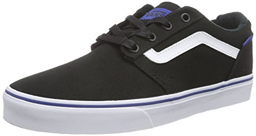 Vans Chapman Stripe, Baskets Basses Homme Noir (Varsity/Black/Blue)