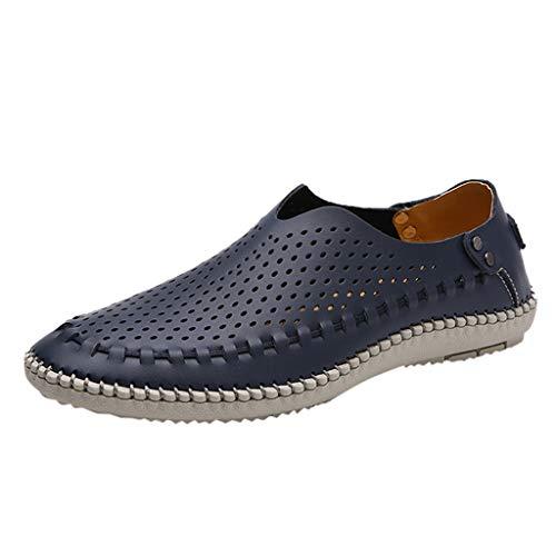 iness-Schuhe Herren Lederschuhe Casual Elegante Arbeitsschuhe Leichte Bequem Freizeitschuhe Männer Elegante Outdoorschuhe Shoes ()