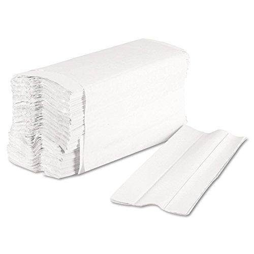 Asciugamani piegati a C a 2 veli, colore bianco, 2355