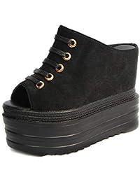 DANDANJIE Pantofole da Donna con Zeppa con Zeppa Scarpe da Donna Sandali  con Tacco Alto 13 1bfe6321bc7