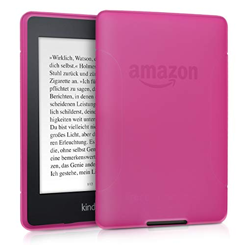 kwmobile Funda compatible con Amazon Kindle Paperwhite - Carcasa de e-book - (para modelos hasta el 2017) rosa fucsia / transparente