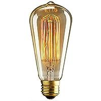 E2740W bombillas LED luz blanca cálida estilo vintage retro industrial edison Lámpara de bombillas 220V, I, E27, 40.0 wattsW 220.00 voltsV