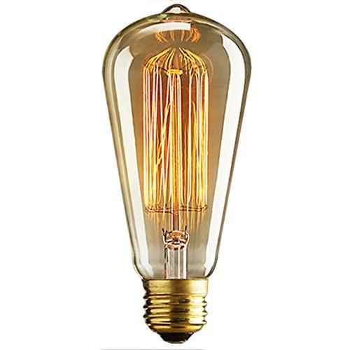 E2740W Vintage Bombilla de filamento Retro lámparas de estilo industrial edison Lámpara 220V cristal antiguo lámpara [clase energética A], I 40.00 wattsW