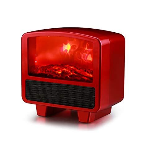 Calentador De Mini Chimenea Con Efecto De Llama, Calentador Eléctrico De Espacio Pequeño 800W/1000W...
