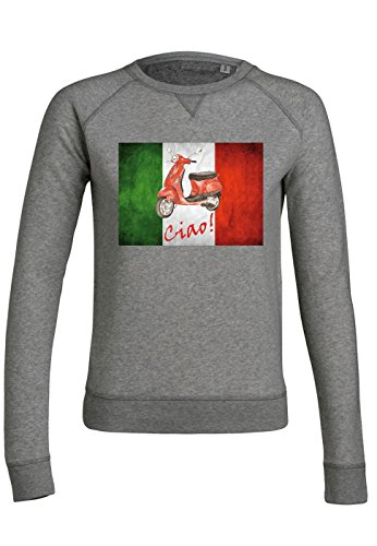 ul9 Sweat pour femmes Trips Vespa Italy Mid Heather Grey