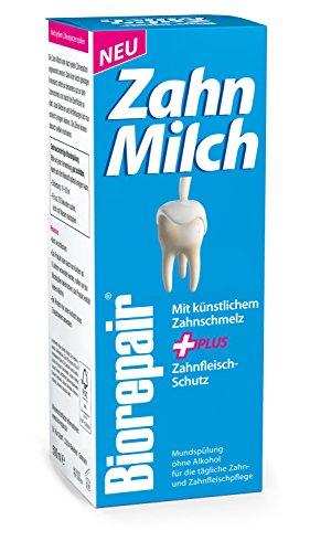 Biorepair Zahn-Milch, 1 x 500 ml - Die Mundspülung mit künstlichem Zahnschmelz und Zahnfleisch-Schutz