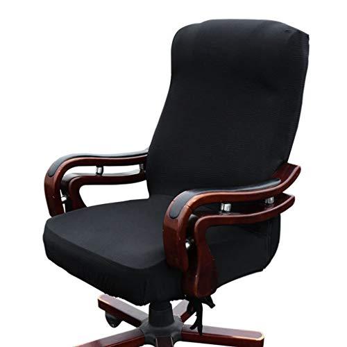 Btsky widerstandsfähiger, elastischer Sitzbezug für Bürostühle (Stuhl nicht im Lieferumfang enthalten), schwarz, Large