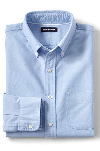 Lands\' End Heritage Oxfordhemd für Herren im Classic Fit Blau M
