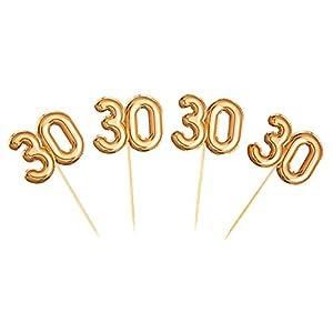 Neviti 773703Glitz y Glamour edad 30Palillos para aperitivos, color dorado