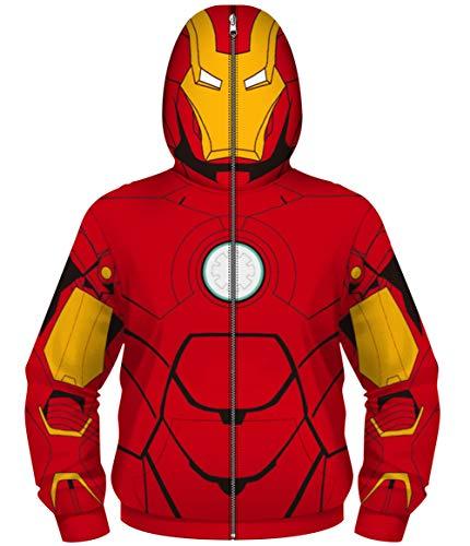 HUASON Jungen kühle Superheld 3D Digital Reißverschluss Up Maskiert Neuheit,Party Pullover.(S)