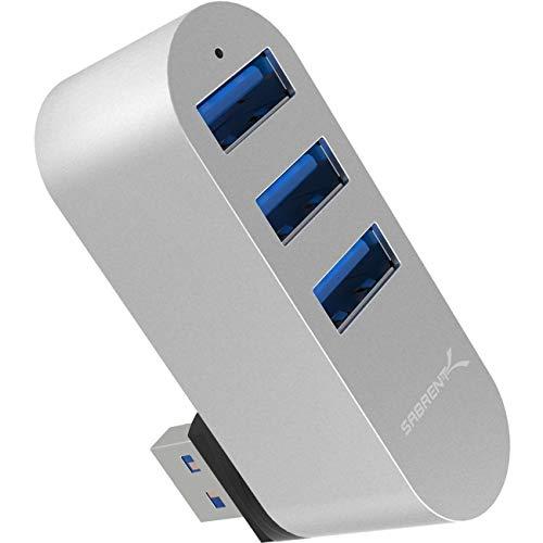 Sabrent USB HUB Premium 3-Port-Aluminium-Mini-USB-3.0 drehbaren Hub [90°/180° Grad drehb