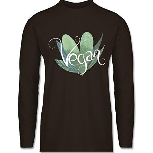 Shirtracer Statement Shirts - Vegan Lettering - Herren Langarmshirt Braun