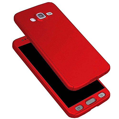 GSMOBILE® Red Slim Fit 360 Degree Full Body Protection Hybrid Case Cover For Samsung Galaxy Grand 2 (7102/7106) ( includes front & back cover & screen tempered glass )  available at amazon for Rs.299