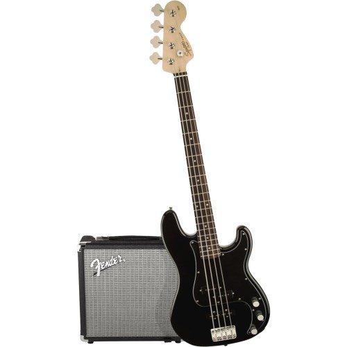 Fender 0301972606Electric Guitar Solid 4Strings Black Guitar–Gitarre