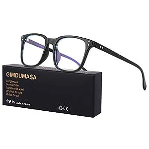 Gimdumasa Computer Gaming Blue Light Filter Blocking Glasses Women Men PC Anti Glare with UV Protection GI799 (Black)