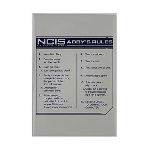 ABBY 's Rules–Rechteck Magnet, 5,1x 7,6cm Kühlschrank Magnet (Ncis-abby)