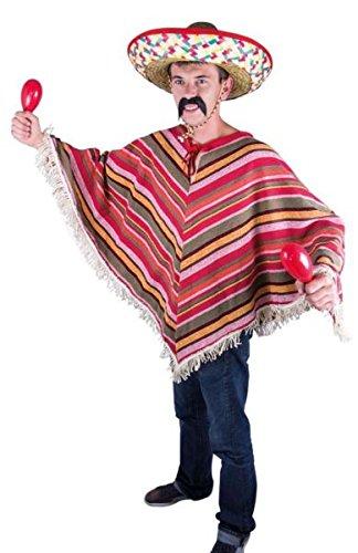 P'tit Clown 91224 - Poncho mexicano para adulto, talla única, multicolor