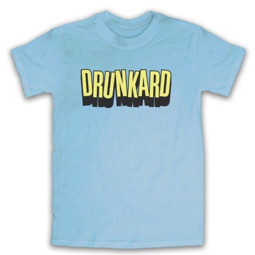Drunkard Funny Slogan Herren T-Shirt Hellblau