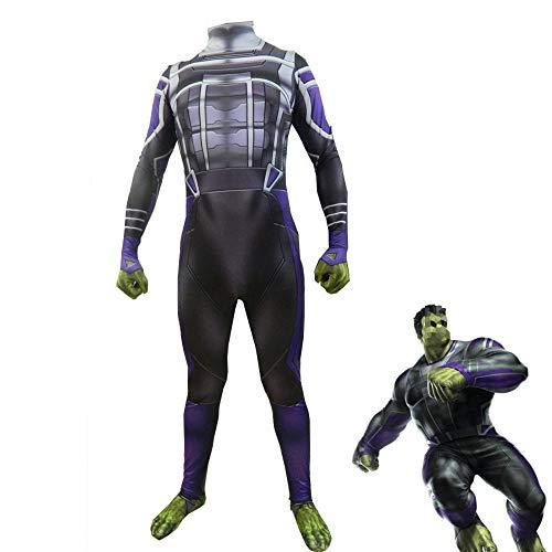 YXIAOL Superheld Cosplay Kostüm, Avengers Hulk Kostüm, Halloween Karneval Kostüm, Kostümparty Kostüm Erwachsene/Kinder 3D Stil,Child-120cm