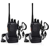 Upgrow 2X Baofeng BF-888s Funkgeräte Set Walkie-Talkie Funksprechgeräte 16 Kanäle 3KM Reichweite CTCSS/DCS 400-470MHz Radio Handfunkgerät Mit Wiederaufladbar Akkus und Headset (mit Headset)